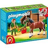 Playmobil - 5108 - Jeu de construction - Cheval et palefrenière