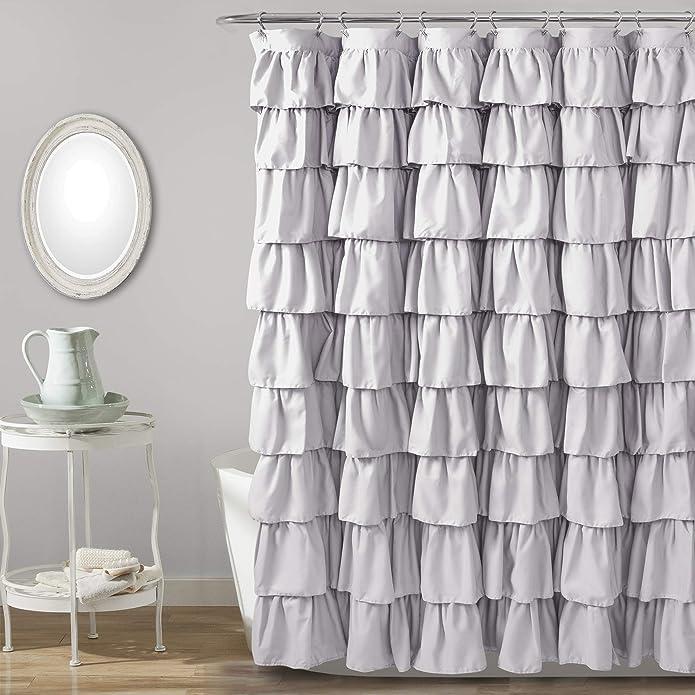 Ruffle Shower Curtain Lilac - Lush Décor