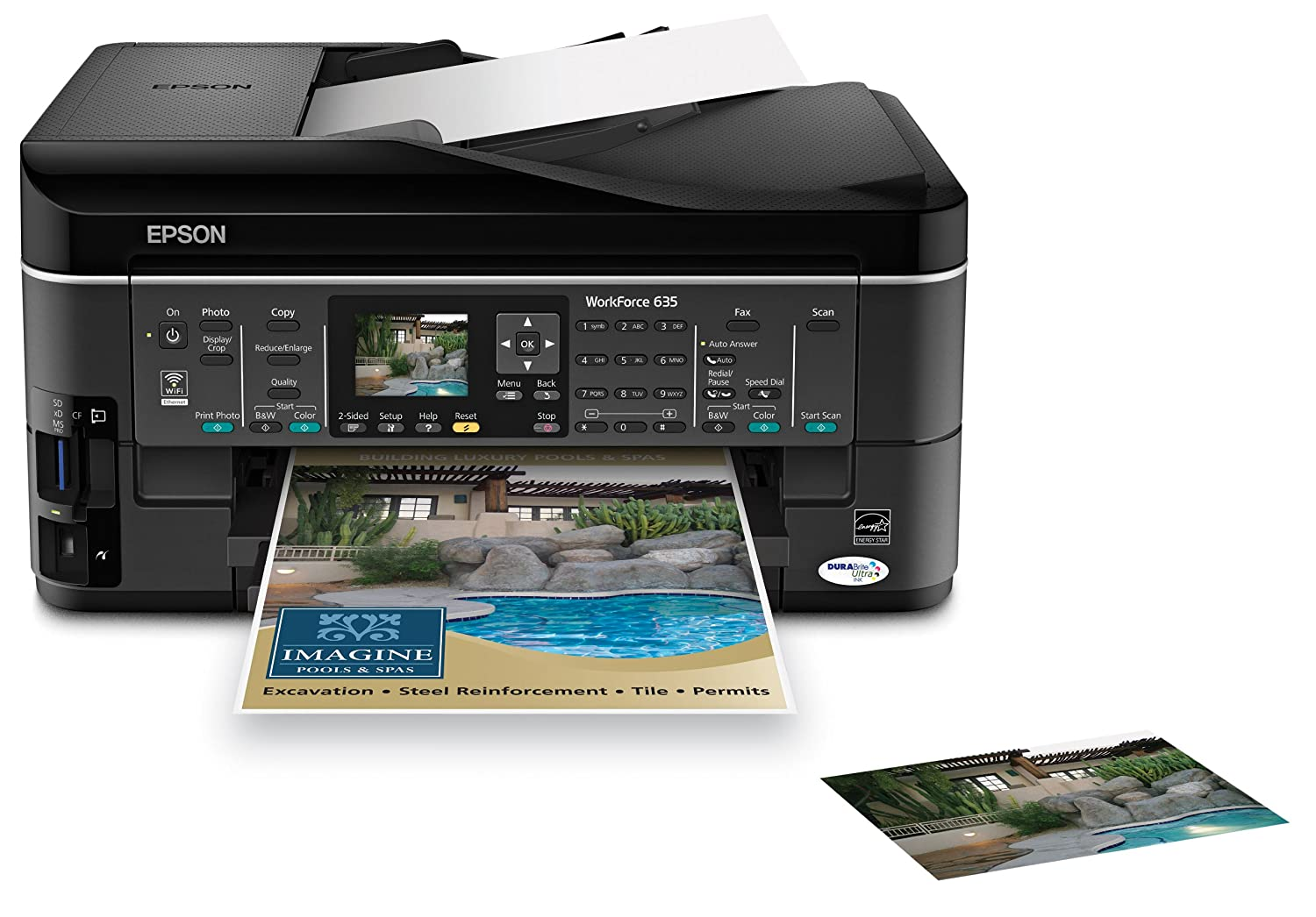 Amazon.com: Epson WorkForce 635 Color Inkjet All-in-One (C11CA69201):  Office Products