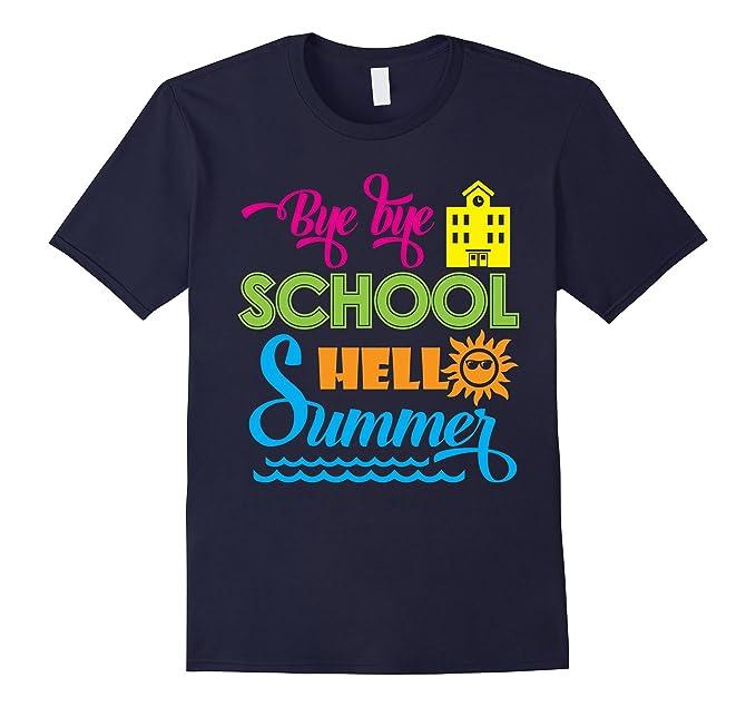 Mens Bye Bye School Hello Summer T Shirt 2XL Navy