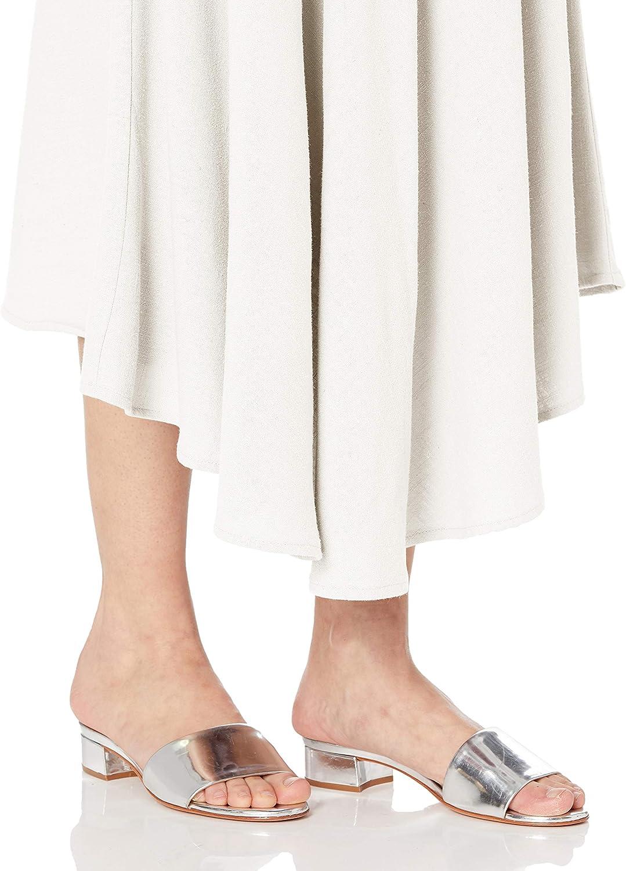 Rachel Pally Damen Linen Tamar Skirt Strickrock Kreidefarben