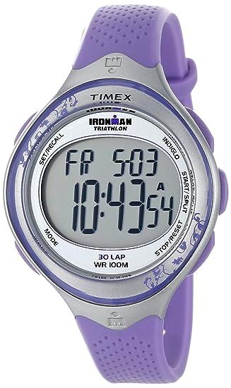 Timex Ironman - Reloj digital de cuarzo para mujer con correa de resina, color morado: Timex: Amazon.es: Relojes