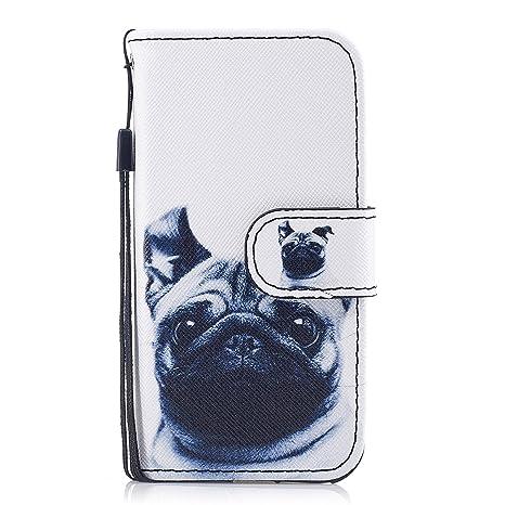 iPhone 5/5s/SE móvil, chreey Bella personalidad funda de piel PU con
