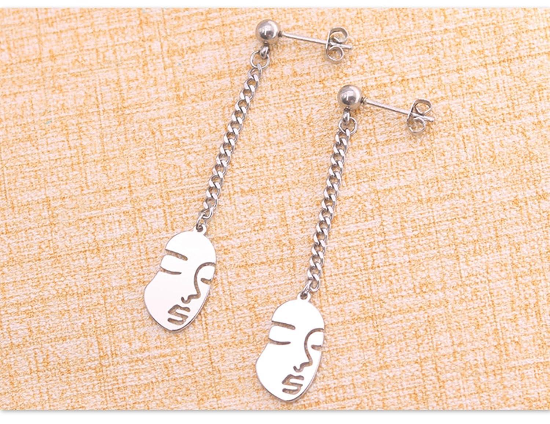 Piercing Earrings Jewelry Long Dangle Earrings with Women Face Shape Beydodo Womens Stainless Steel Dangle Earring Wedding