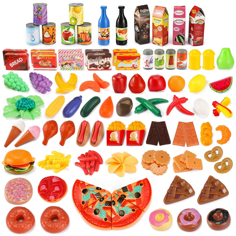 Spielzeuge Lustig Pädagogisch Essen so tun Jungen Mädchen Spiele Obst Gemüse Puzzles & Geduldspiele