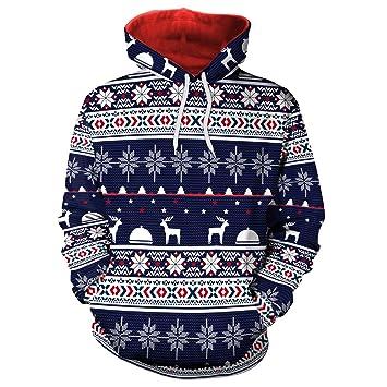 Amazon.com : JoJo Christmas Hoodie Sweater/Digital Snowflake Christmas Print/Sports Sweater Hoodie/Hoodie Sweatshirt/Couple/Party Gift : Sports & Outdoors