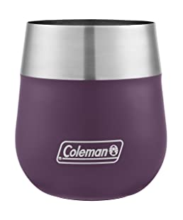 Coleman Claret Insulated Stainless Steel Wine Glass, Violet, 13 oz.