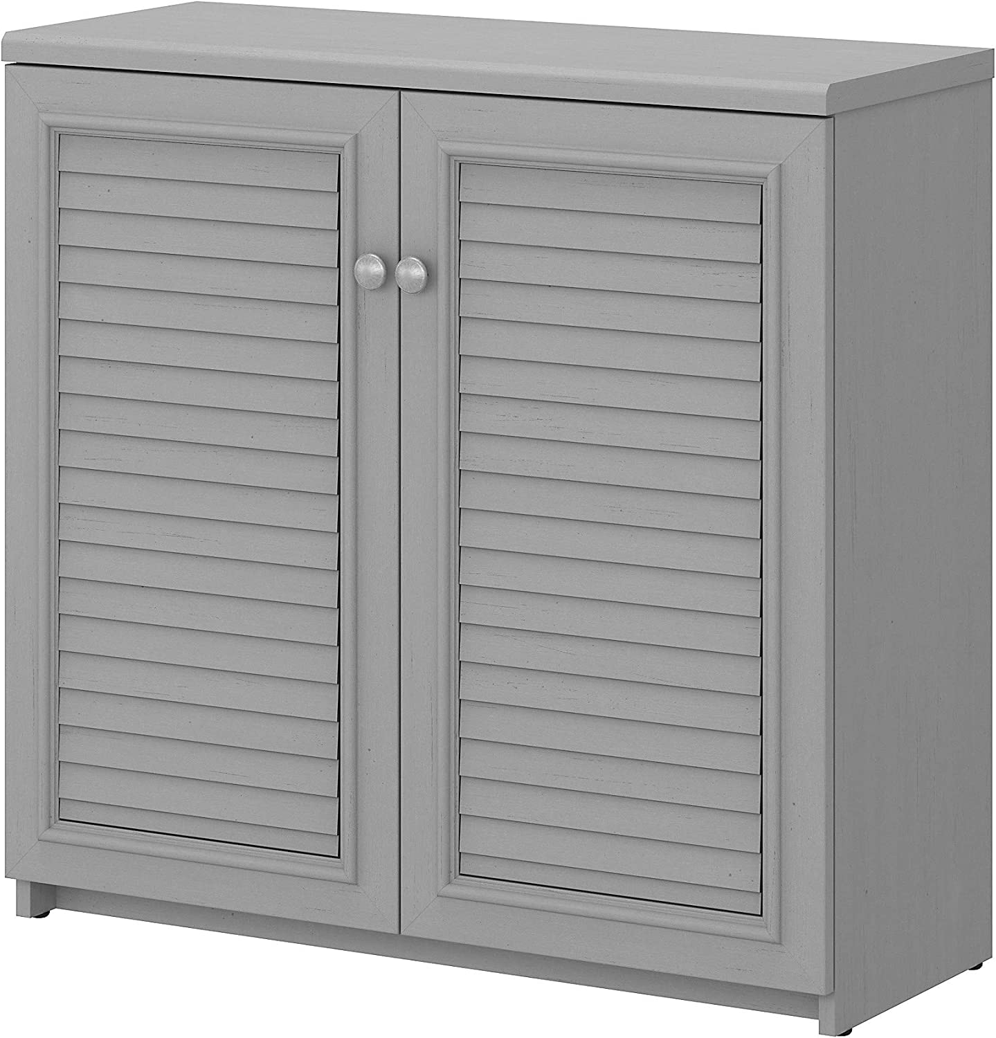 Bush Furniture Fairview Small Storage Cabinet with Doors and Shelves, Cape Cod Gray