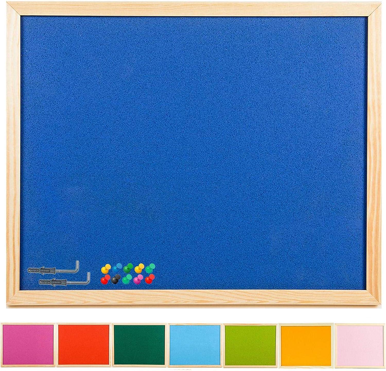personnalis/ée en li/ège color/é broches Remarque Message Boards/ /bulletin Memo encadr/é Bureau en bois Archiver 90 x 60 Pink /2/tailles/