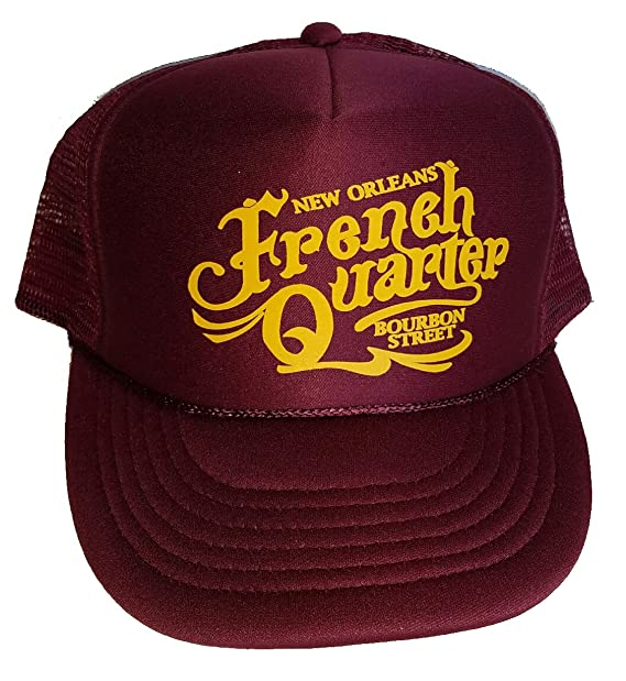 bea66c32cb2 Image Unavailable. Image not available for. Color  ThatsRad French Quarter  New Orleans Maroon Mesh Trucker Hat Cap Snapback Bourbon