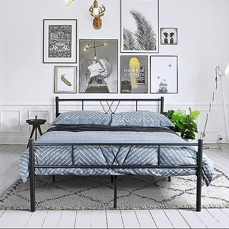 Platform Bed Frame Queen Twin Full Size Metal Bed Mattress Foundation Headboard