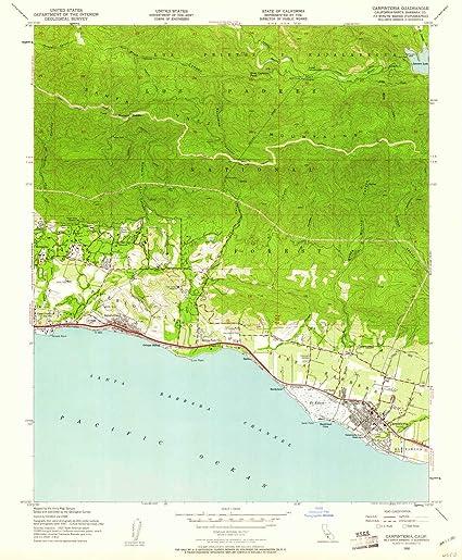 Amazon Com Yellowmaps Carpinteria Ca Topo Map 1 24000 Scale 7 5
