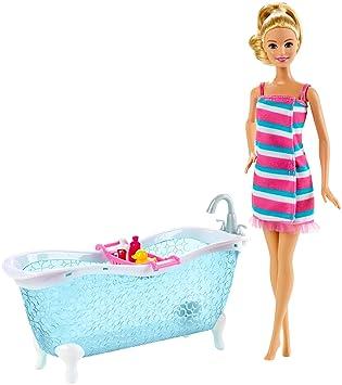 Barbie - Möbel Einrichtung Bad - Badezimmer Badewanne mit Puppe ...