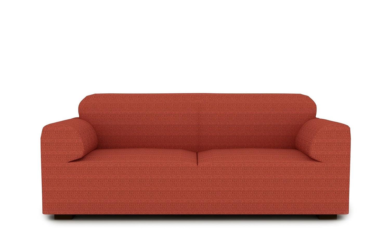 textil-home Funda de Sofá Elástica TIDAFORS, 3 plazas - Desde 180 a 240 cm. Color Teja (Modelo Exclusivo Funda Sofá TIDAFORS IKEA)