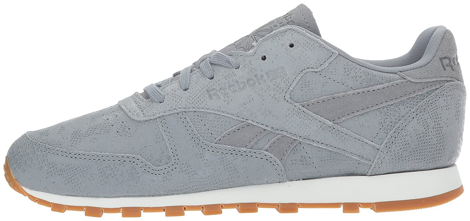 Reebok Women's CL Lthr Shoe Clean Exotic Print Track Shoe Lthr B01N6QCK7J 10.5 B(M) US|Flint Grey/Chalk/Gum 251ebe