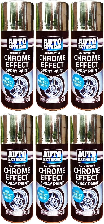 Spray de pintura efecto cromo coche Van bicicleta exterior ...