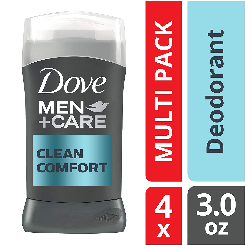 Dove Men+Care Deodorant Stick, Clean Comfort, 3 Ounce (Pack of 4)