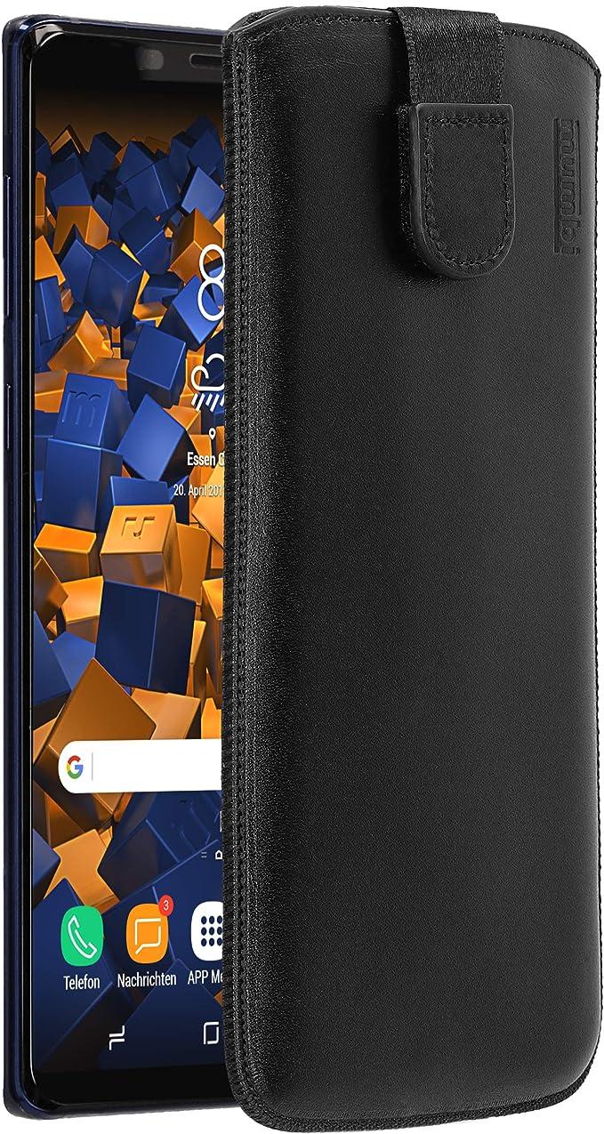 Mumbi Echt Ledertasche Kompatibel Mit Samsung Galaxy Note 9 Hülle Leder Tasche Case Wallet Schwarz Mumbi 27790 Elektronik