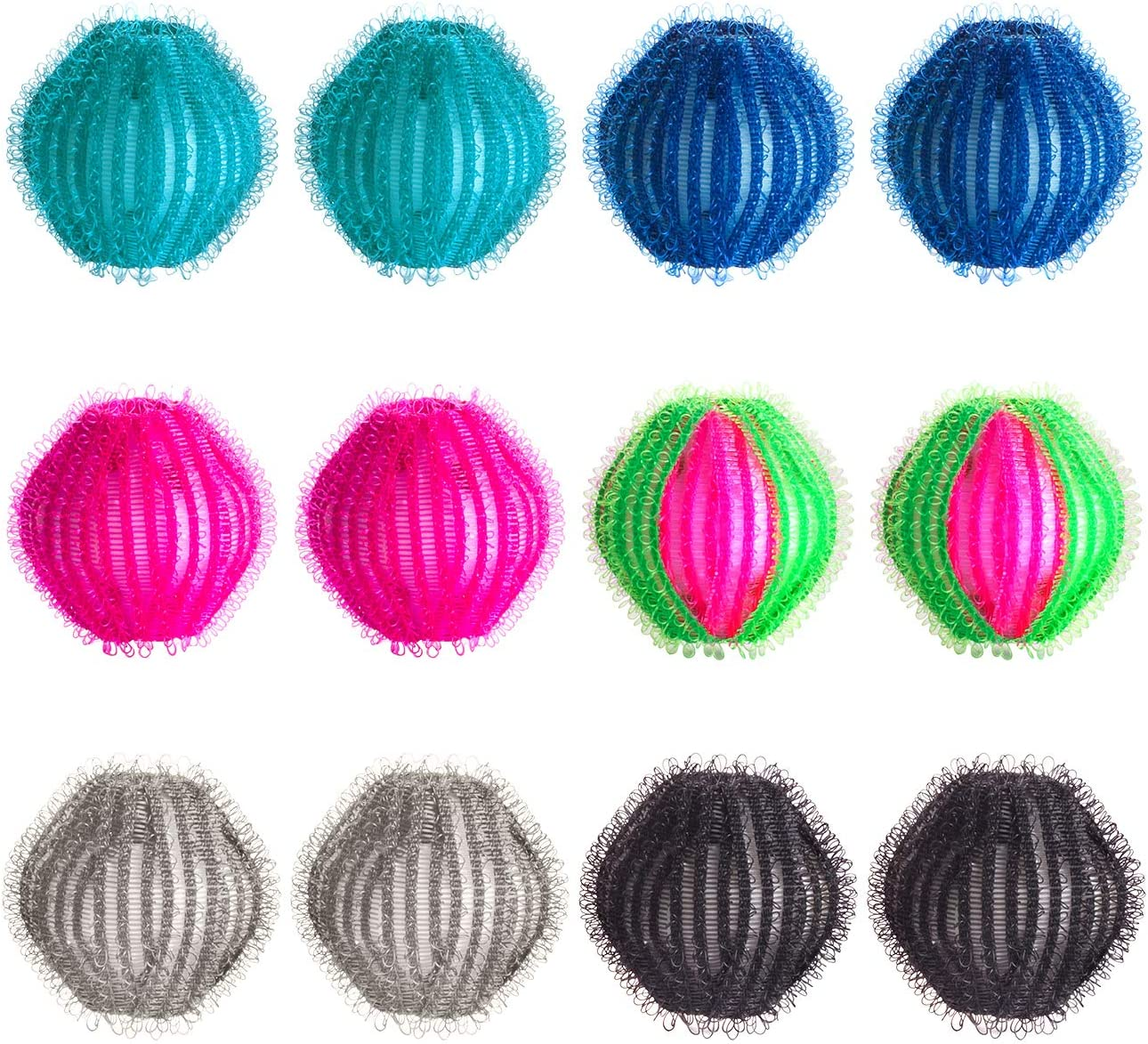 12 pcs Pet Hair Remover for Laundry Lint Remover Washing Balls Lint Remover Balls Magic Hair Removal Plastic Laundry Ball Reusable Dryer Balls Washer from Dogs and Cats
