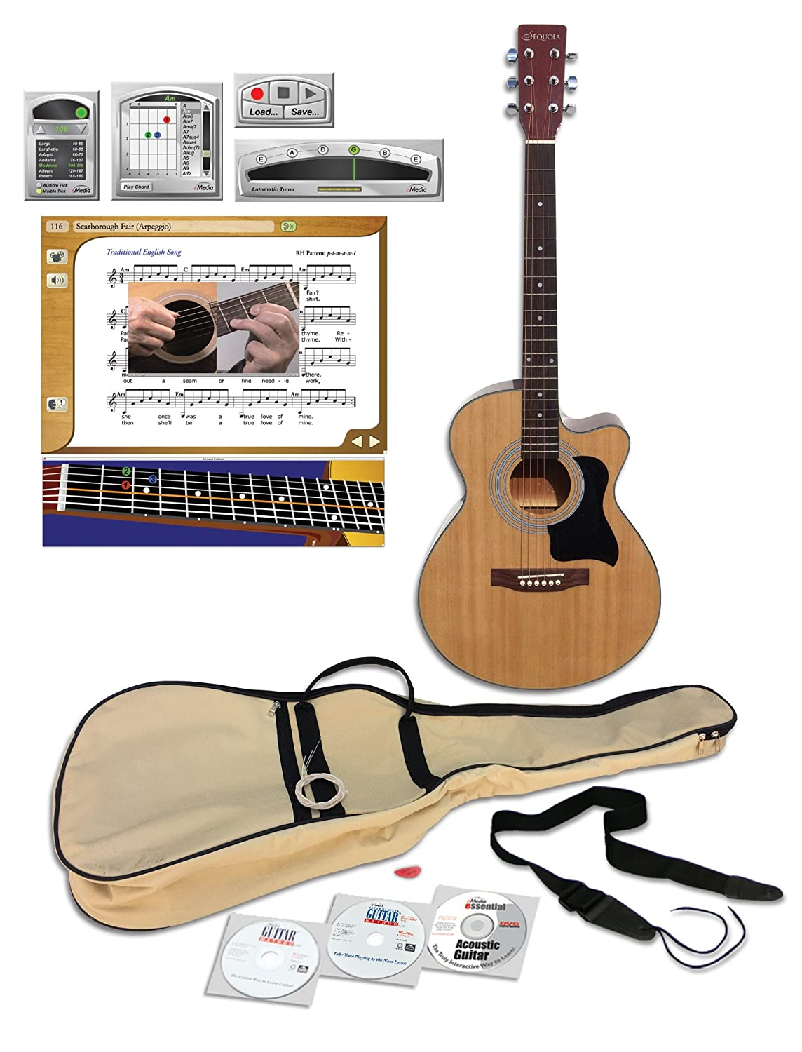 eMedia Teach Yourself Acoustic Guitar Pack Deluxe, 40' 40 EG08152B