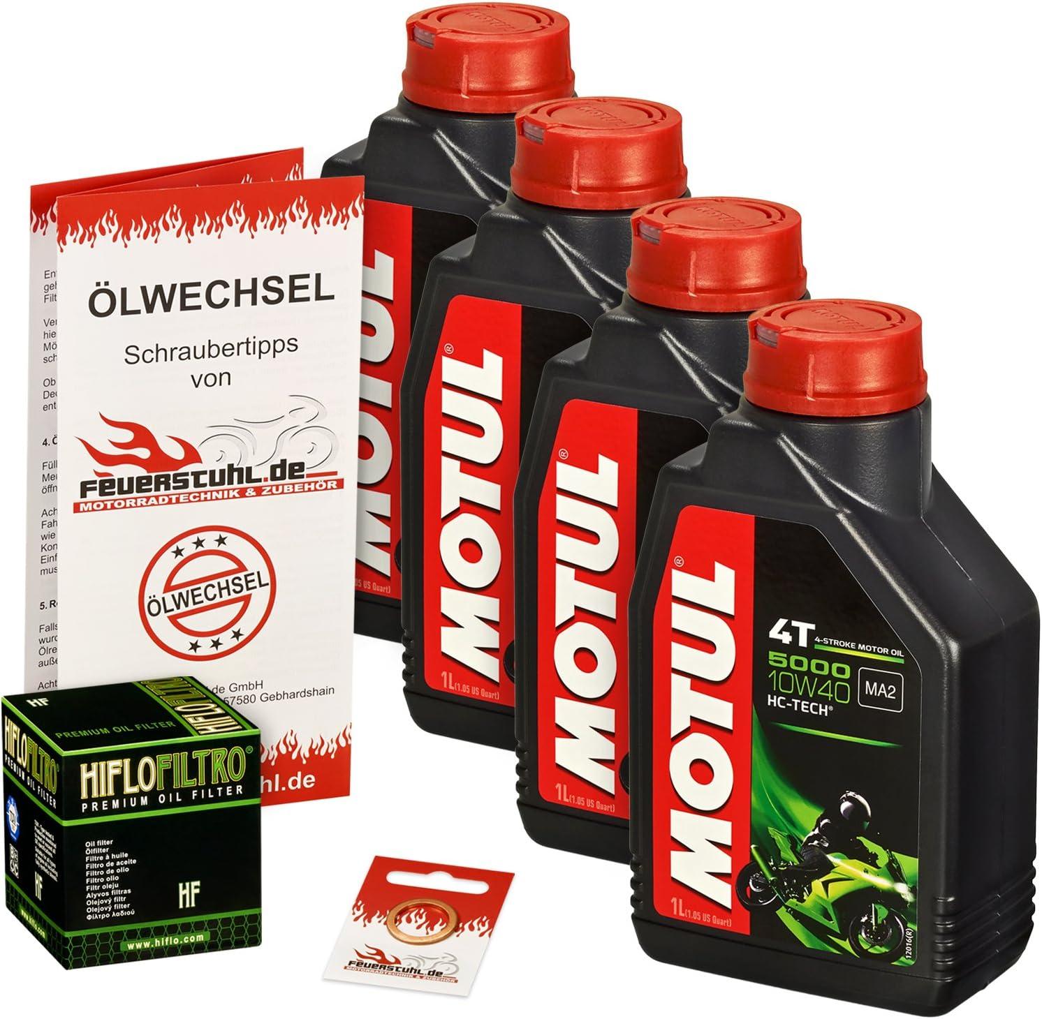 Motul 10w 40 Öl Hiflo Ölfilter Für Yamaha Xv 1100 Virago 89 99 3lp Ölwechselset Inkl Motoröl Filter Dichtring Auto
