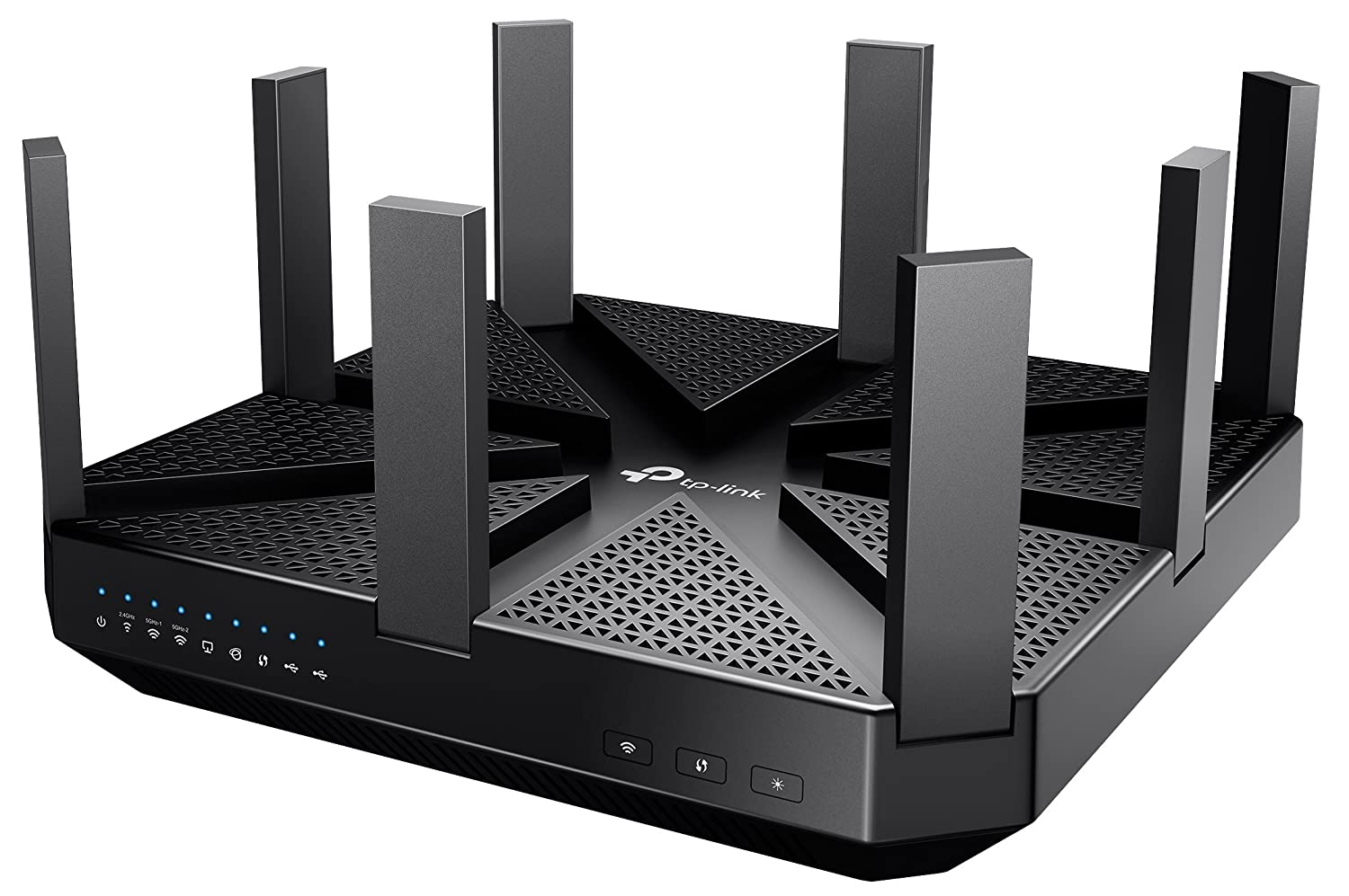 TP-Link AC5400 Archer C5400 - Gaming router Gigabit inalámbrico (Tri-banda 5400 Mbps, CPU doble núcleo, 1024QAM, Smart Connect, Beamforming, USB...