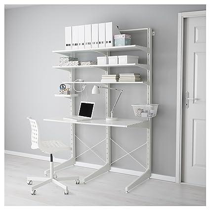 IKEA Algot - Mensaje / pie / Estantes blancos: Amazon.es: Hogar