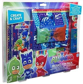 SAMBRO - PJ Mask Juego para Crear Mosaicos, Color Rojo/Verde/Azul (