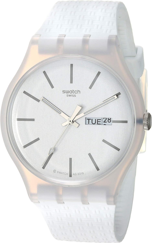 Swatch Reloj Analógico para Unisex Adultos de Cuarzo con Correa en Silicona SUOW710