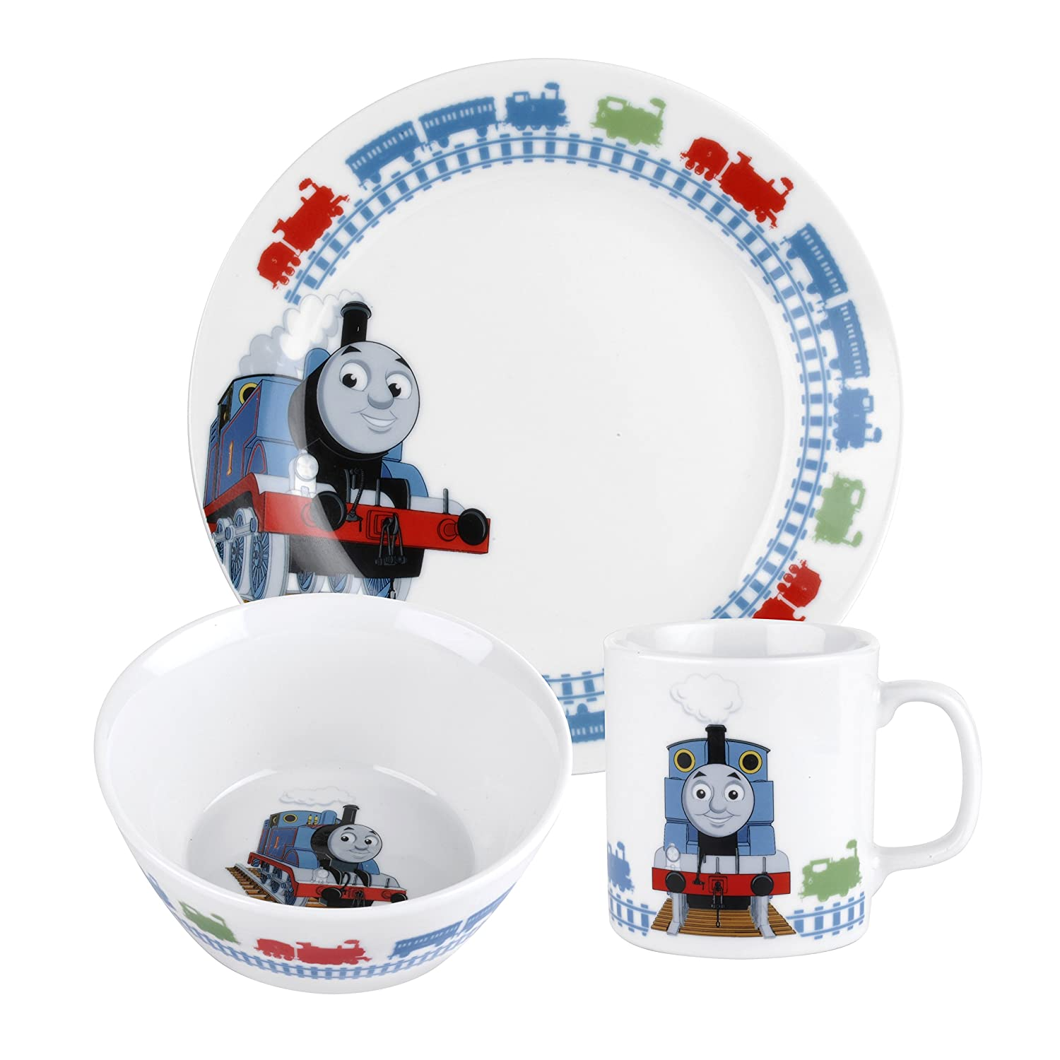 Royal Worcester 3-Piece Thomas the Tank Engine Childrens Dinner Set Multi-Colour Amazon.co.uk Kitchen u0026 Home  sc 1 st  Amazon UK & Royal Worcester 3-Piece Thomas the Tank Engine Childrens Dinner Set ...