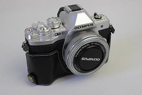 Funda para cámara E-M10 Mark III, Zakao de Piel auténtica ...