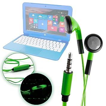 DURAGADGET Auriculares In-Ear con Luz LED Verde para ...
