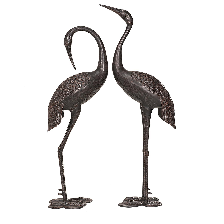 garden cranes. Amazon.com : Sunjoy Cast Aluminum 2pcs Garden Accent Decor Crane Set \u0026 Outdoor Cranes U