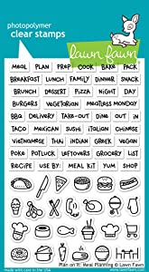 Lawn Fawn Plan on It: Meal Planning Stamp Set (LF1928)