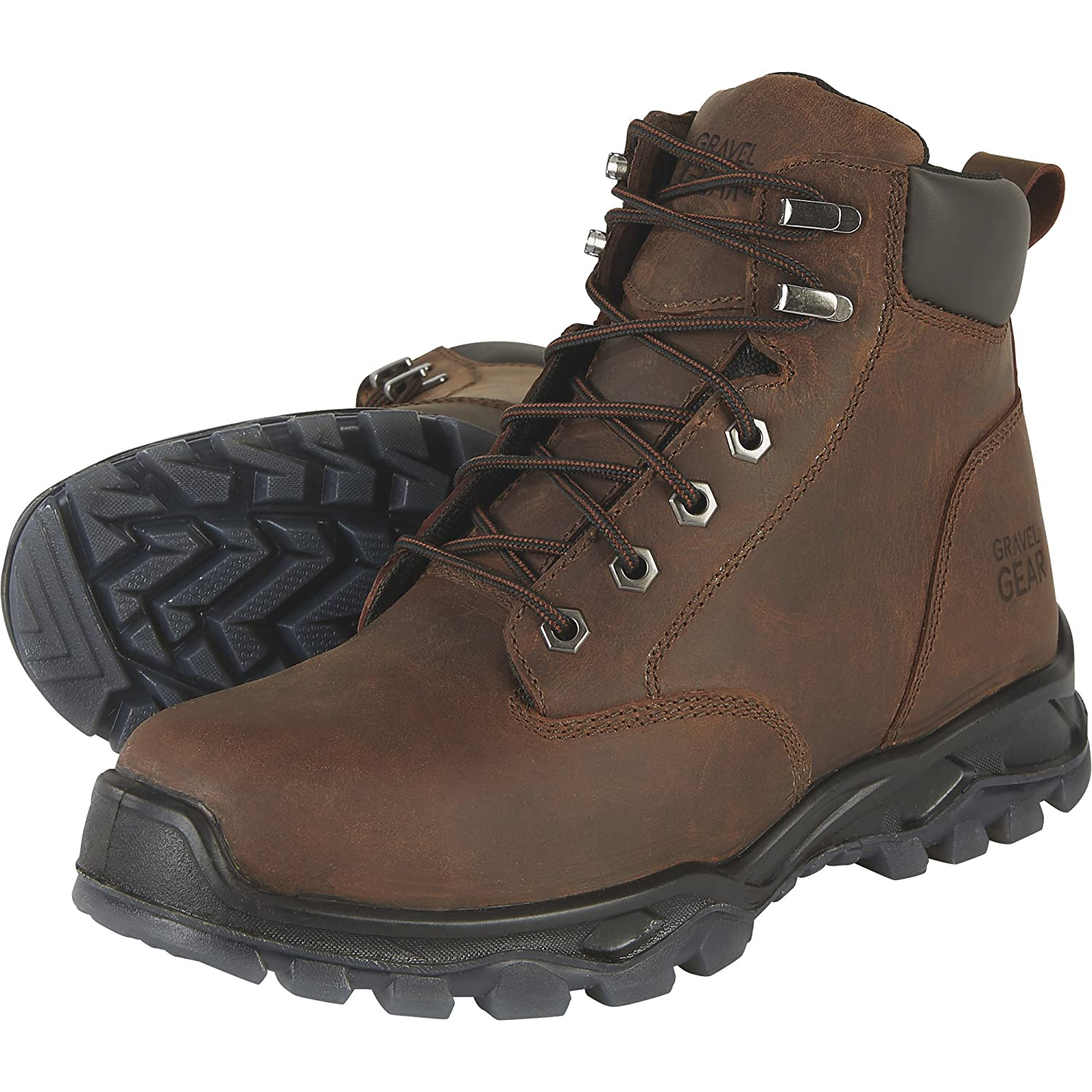 0a179e11001 Amazon.com | Gravel Gear 6in. Waterproof Steel Toe Work Boots ...