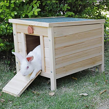 Rockever Cat House Outside Weatherproof Rabbit Hutch Small Wooden Small Pet House And Habitats