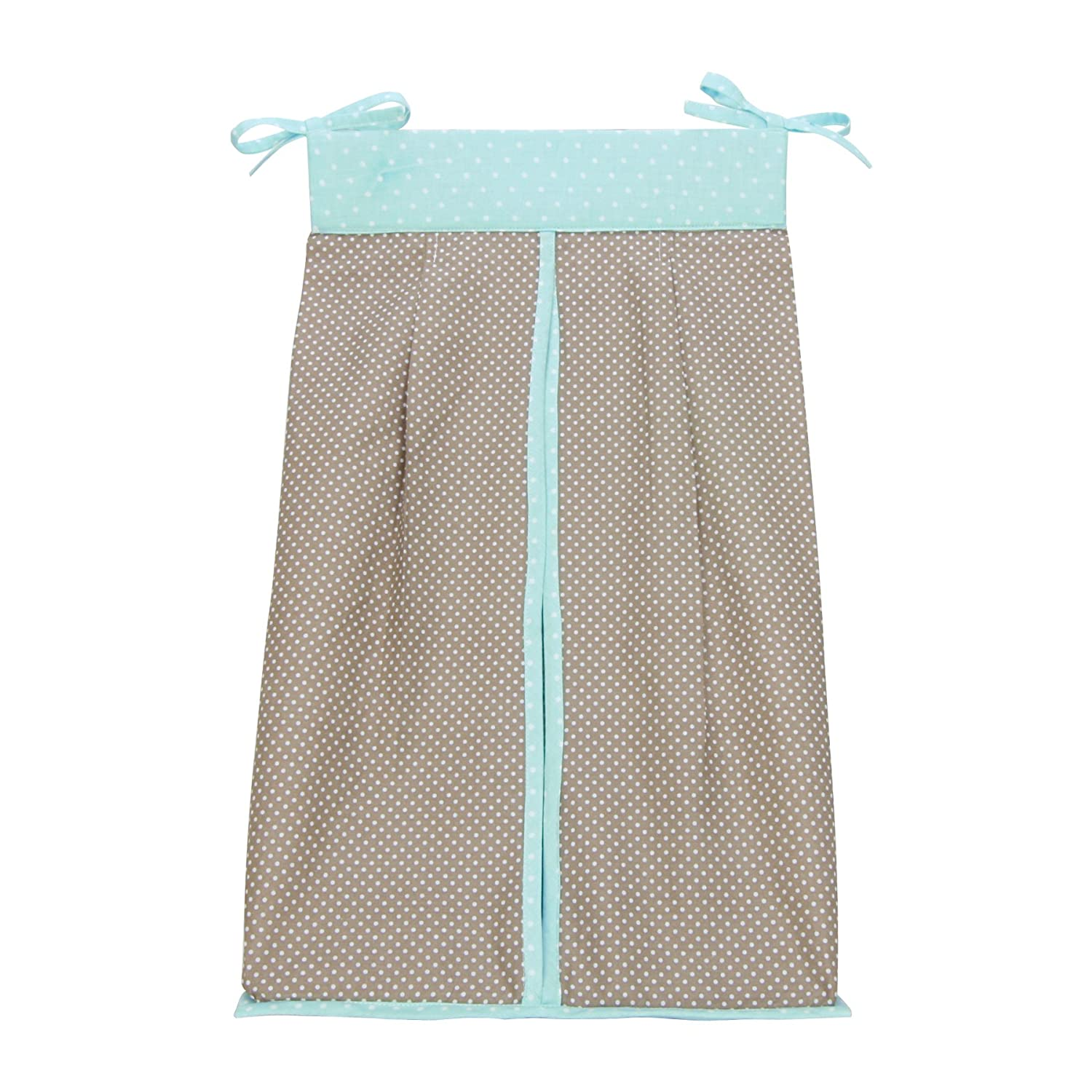 Trend Lab Cocoa Mint Diaper Stacker, Taupe 110202