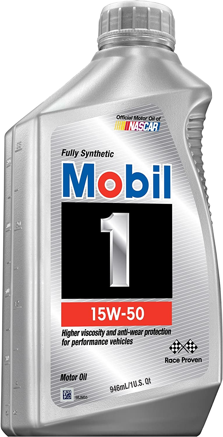 Mobil 1 94002 15W-50 Synthetic Motor Oil - 1 Quart (Pack of 6)
