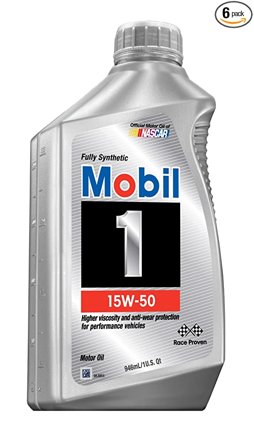 1.Mobil 1 94002 15W-50 Synthetic Motor Oil - 1 Quart