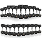 EXTREME FITNESS® Hex Dumbbell Rubber Weight Sets 1KG - 50KG