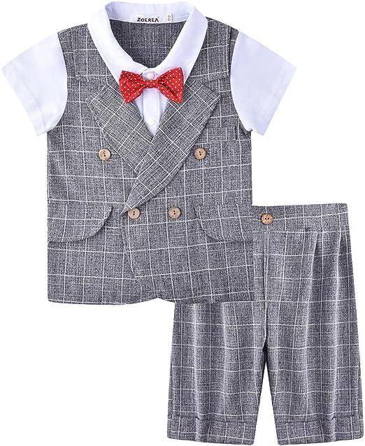 ZOEREA Completo Battesimo bambino ragazzo vestiti pantaloncini primo  compleanno boy vestito ragazzo vestito bambino ragazzo partito vestito  bambini ragazzo ... 4e0024d98181