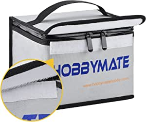 HOBBYMATE Lipo Battery Safe Bag Lipo Battery Guard Bag Fireproof Explosionproof Pouch Sack for Charge & Storage