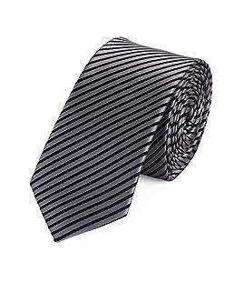 Fabio Farini Cravate de en gris noir