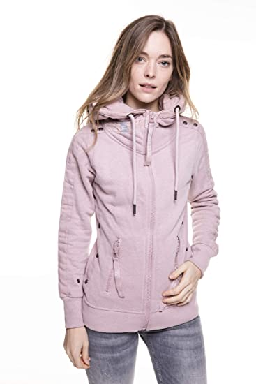 Zhrill Damen Sweatjacke Zip Hoody Kapuzenjacke mit Reißverschluss Yuri