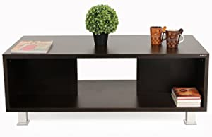 Bluewud Leo Coffee Table with Shelves (Wenge)