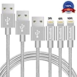 Amazon Price History for:Aonlink iPhone Cable, 3Pack 3FT 6FT 10FT Nylon Braided to USB Lightning iPhone Charger Cord with Aluminum Connector for iPhone 7/7 Plus/6s/6s Plus/6/6Plus/5s/5c/5, iPad/iPod Models-Gray