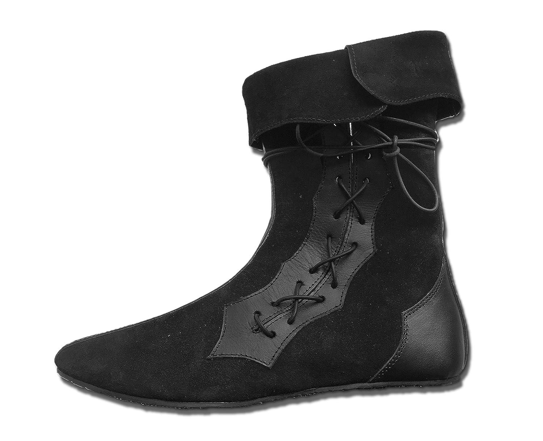 CP-Schuhe Schuhe Mittelalter Schuhe CP-Schuhe Halbstiefel aus Rauhleder Schwarz ba156d