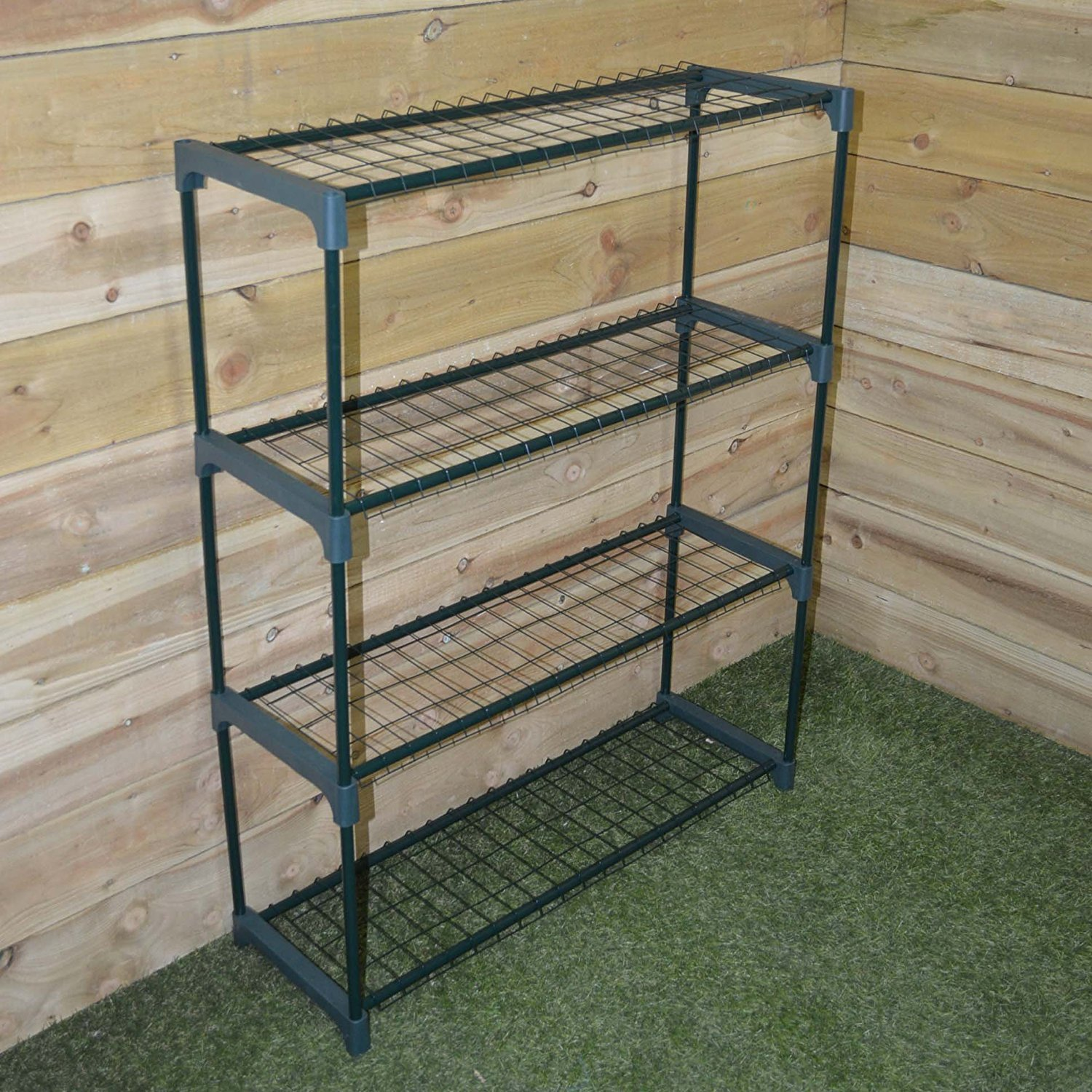 Kingfisher GHSTAGE 4 Shelf Greenhouse Staging - Green King Fisher