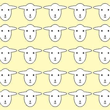 LAMINATED Poster1 Sheep Wallpaper Pattern Yellow Illustrations Print 24x 36
