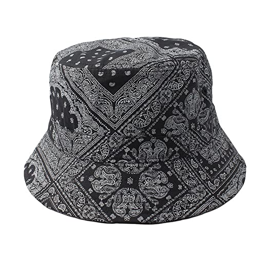 Cap2Shoes Men s Bandana Paisley Bucket Hat One Size Black at Amazon Men s  Clothing store  781a3b556d84